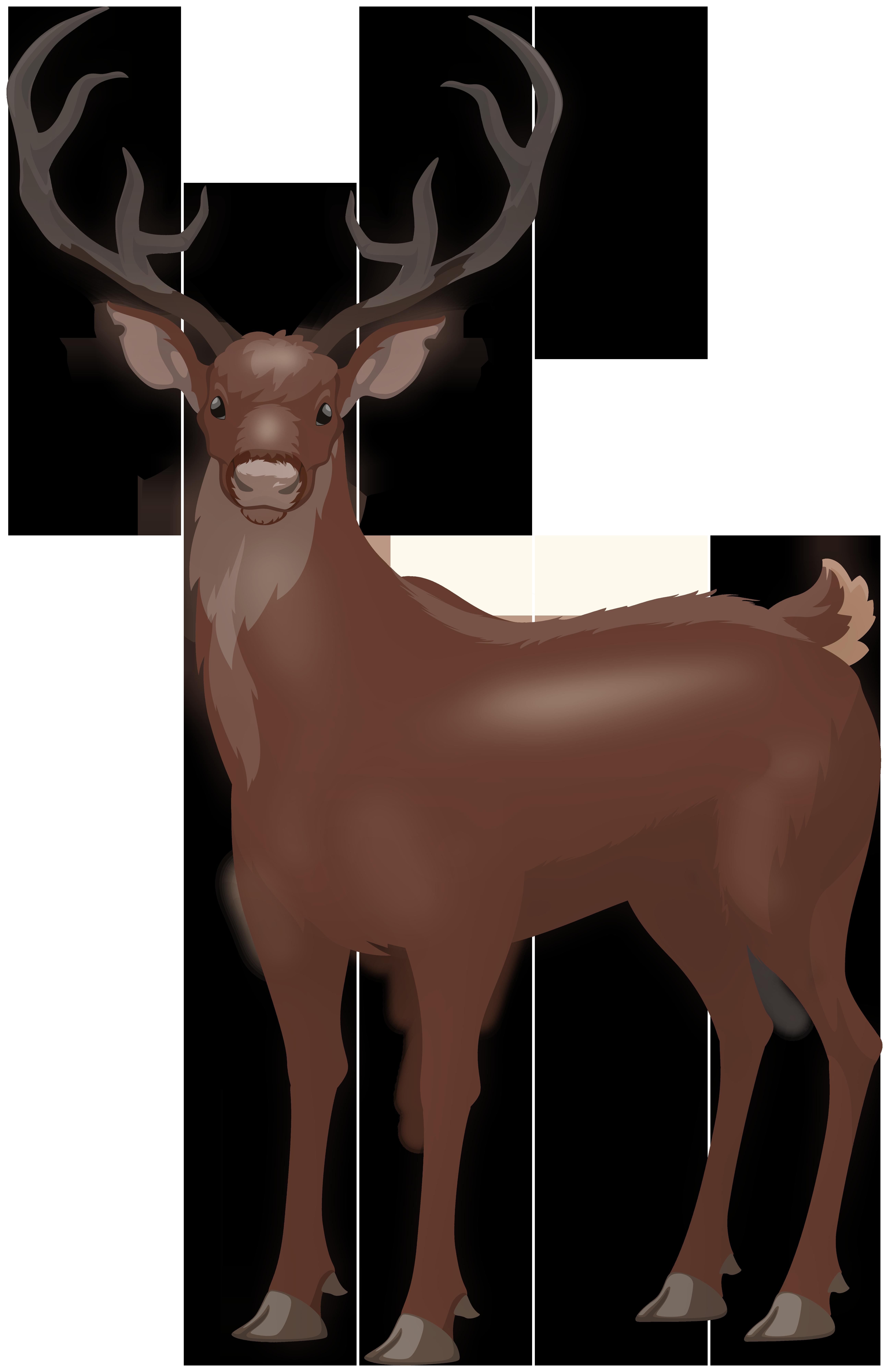 Red Deer Stag PNG Clip Art Image.