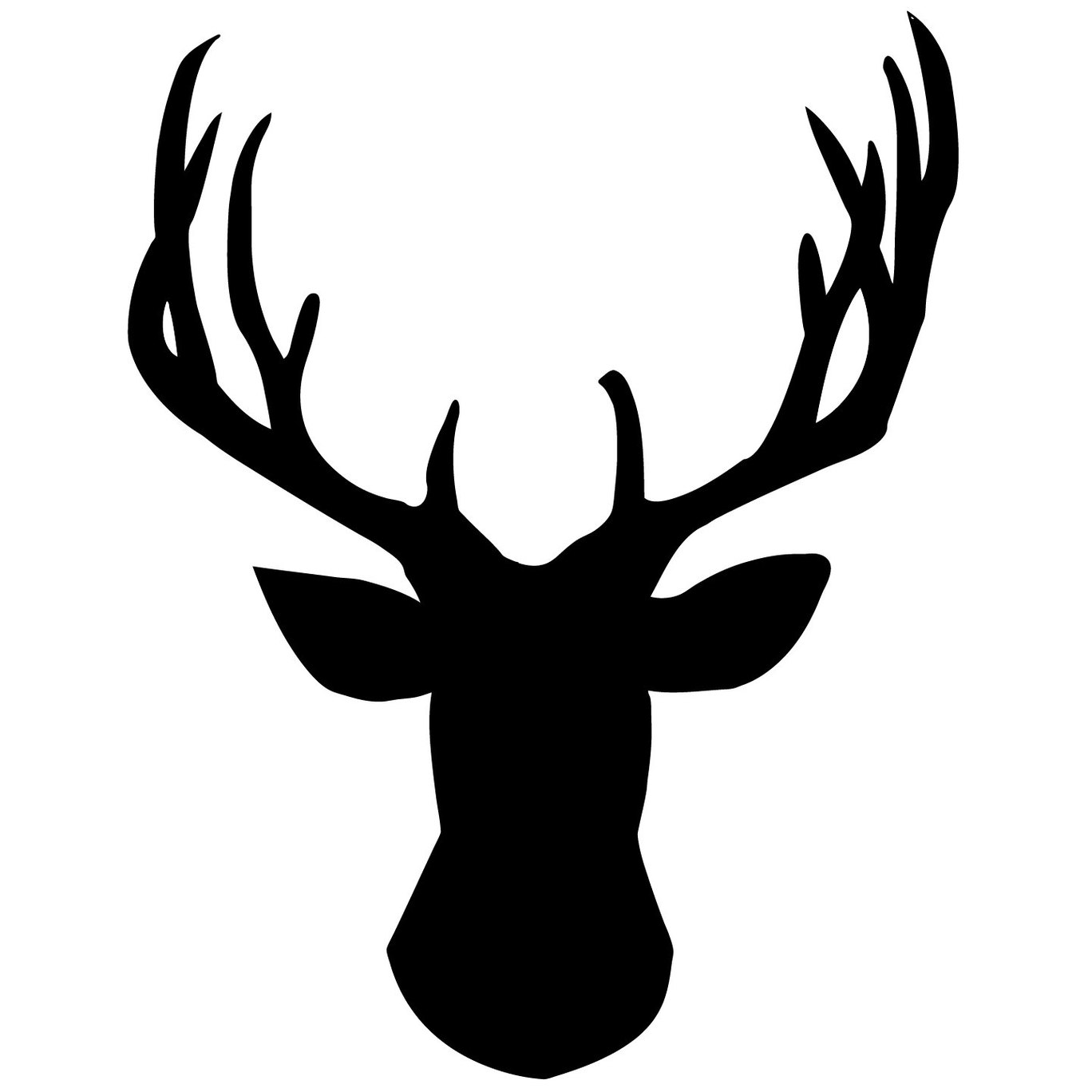 Stag clipart silhouette.