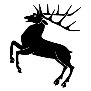 Stag heraldry clipart.
