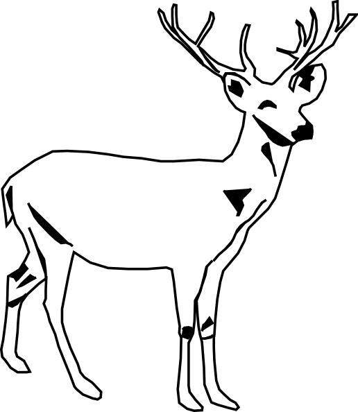 Free Stag Clipart Black And White, Download Free Clip Art.