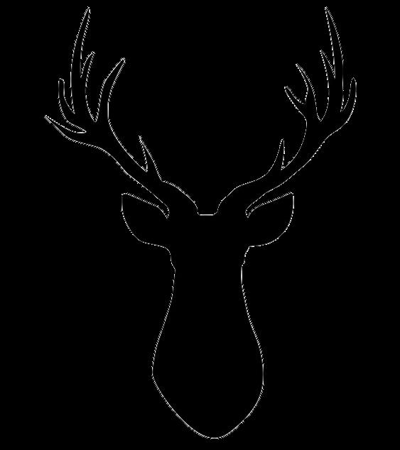 Reindeer Silhouette Clip art.