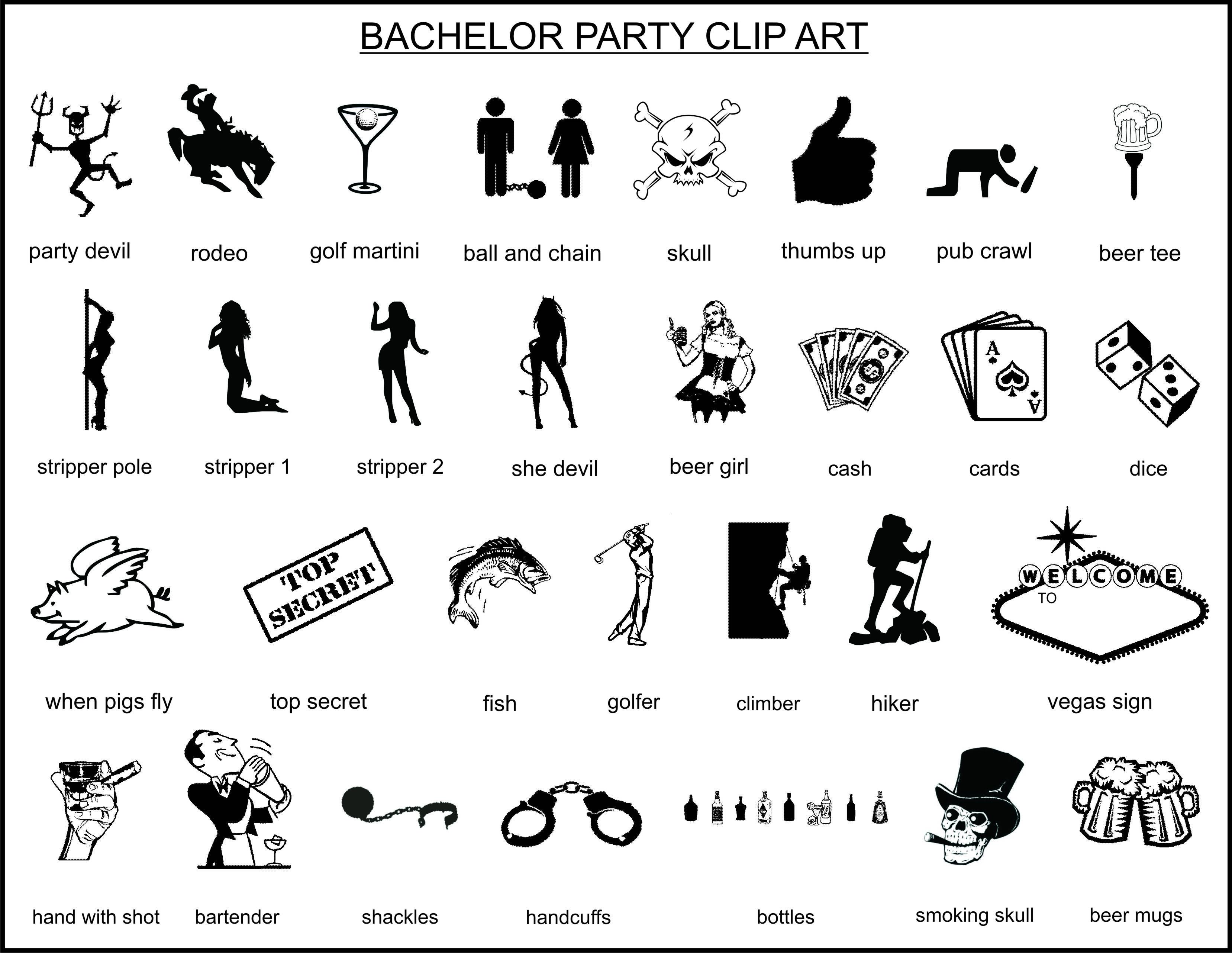 Bachelor party clip art.