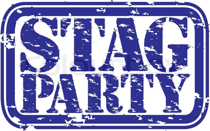 Grunge stag party rubber stamp, vector illustration.