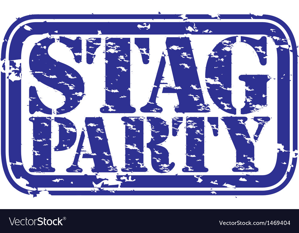 Stag party vector image.