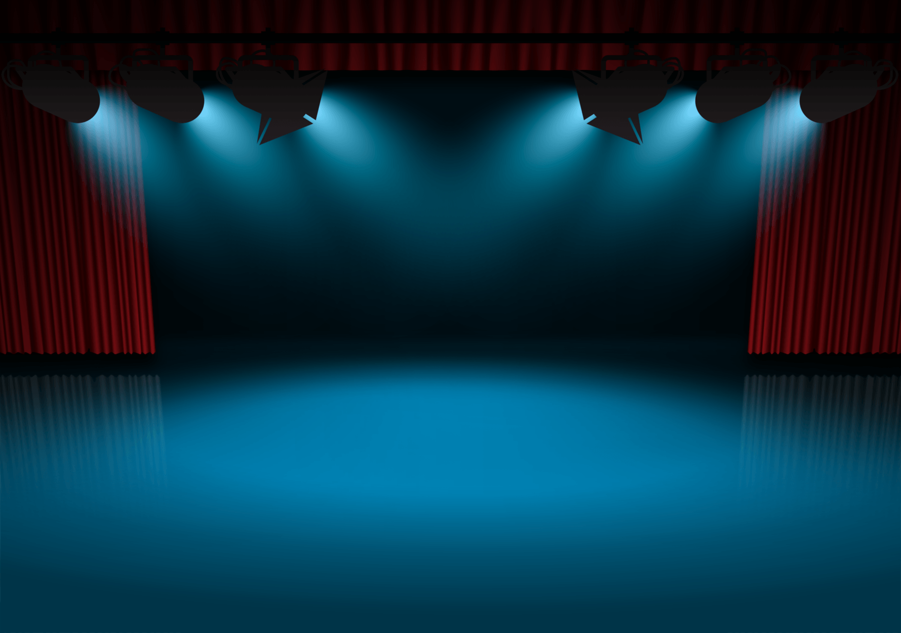 Music Stage Background Clipart.
