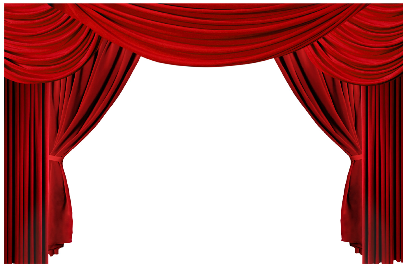 red theater curtain clipart #19