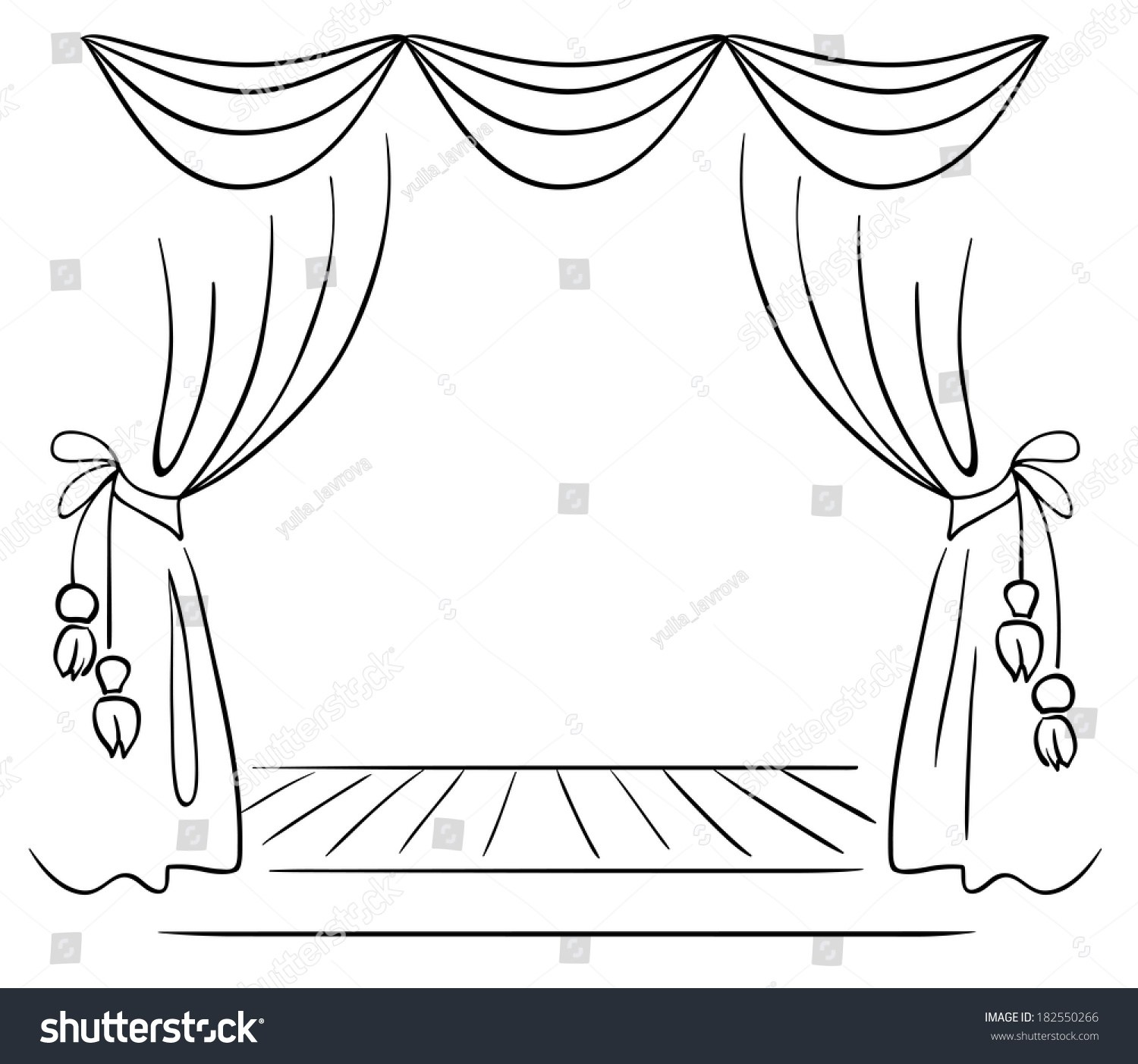 Stage black and white clipart 3 » Clipart Portal.