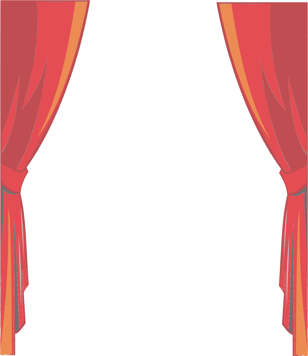 Stage Transparent Cartoon Graphic Black And White.