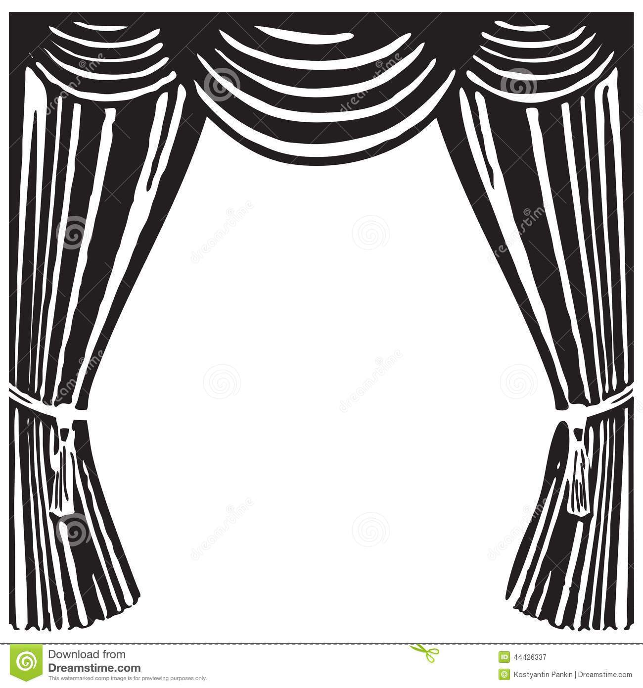 Stage clipart black and white 4 » Clipart Portal.