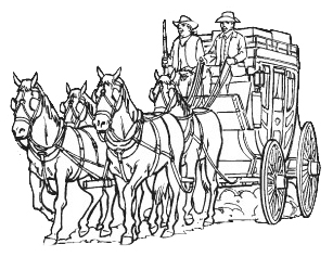 Stagecoach Coloring, stagecoach clipart clipart best. Coloring.