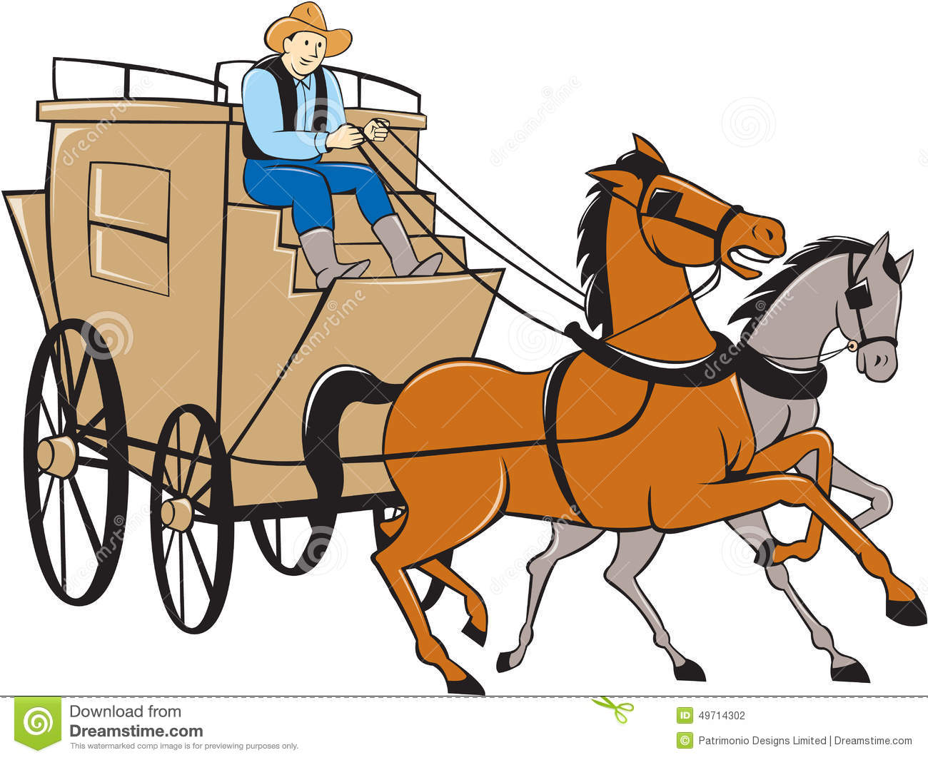 Stagecoach Stock Illustrations.