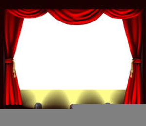 Free Theatre Curtains Clipart.