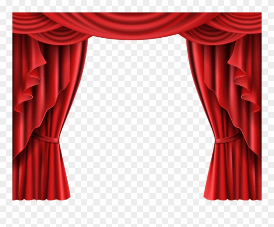 Download Red Theater Curtain Transparent Clipart Png.