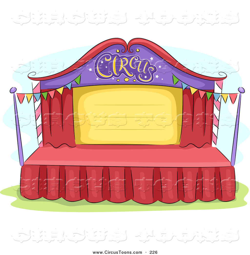 Stage Design Clipart.