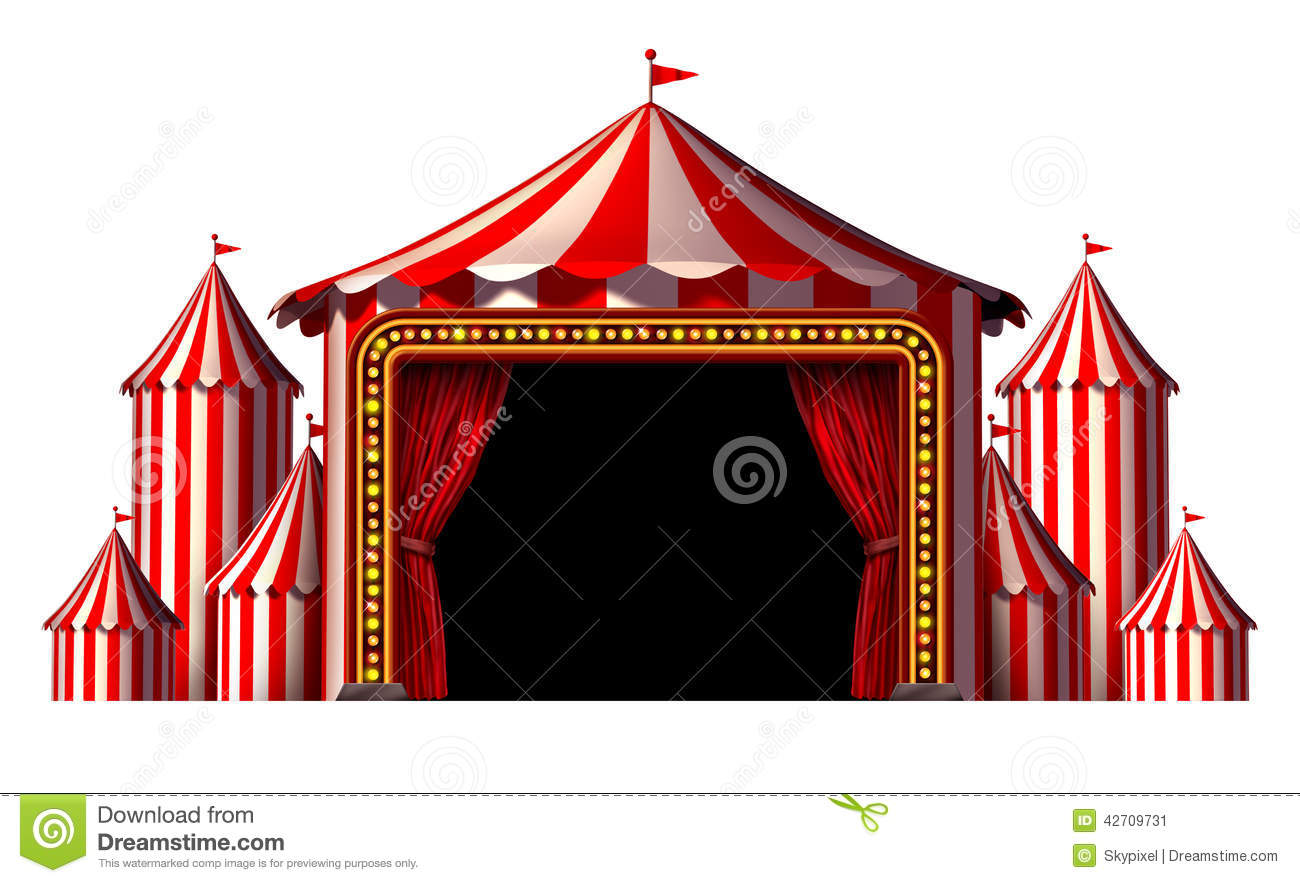 Circus Stage Stock Illustration.