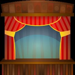Platform Stage Clip Art.