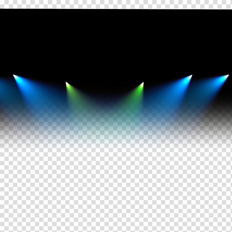 Turned on blue and green spotlights, Stage lighting, Light.