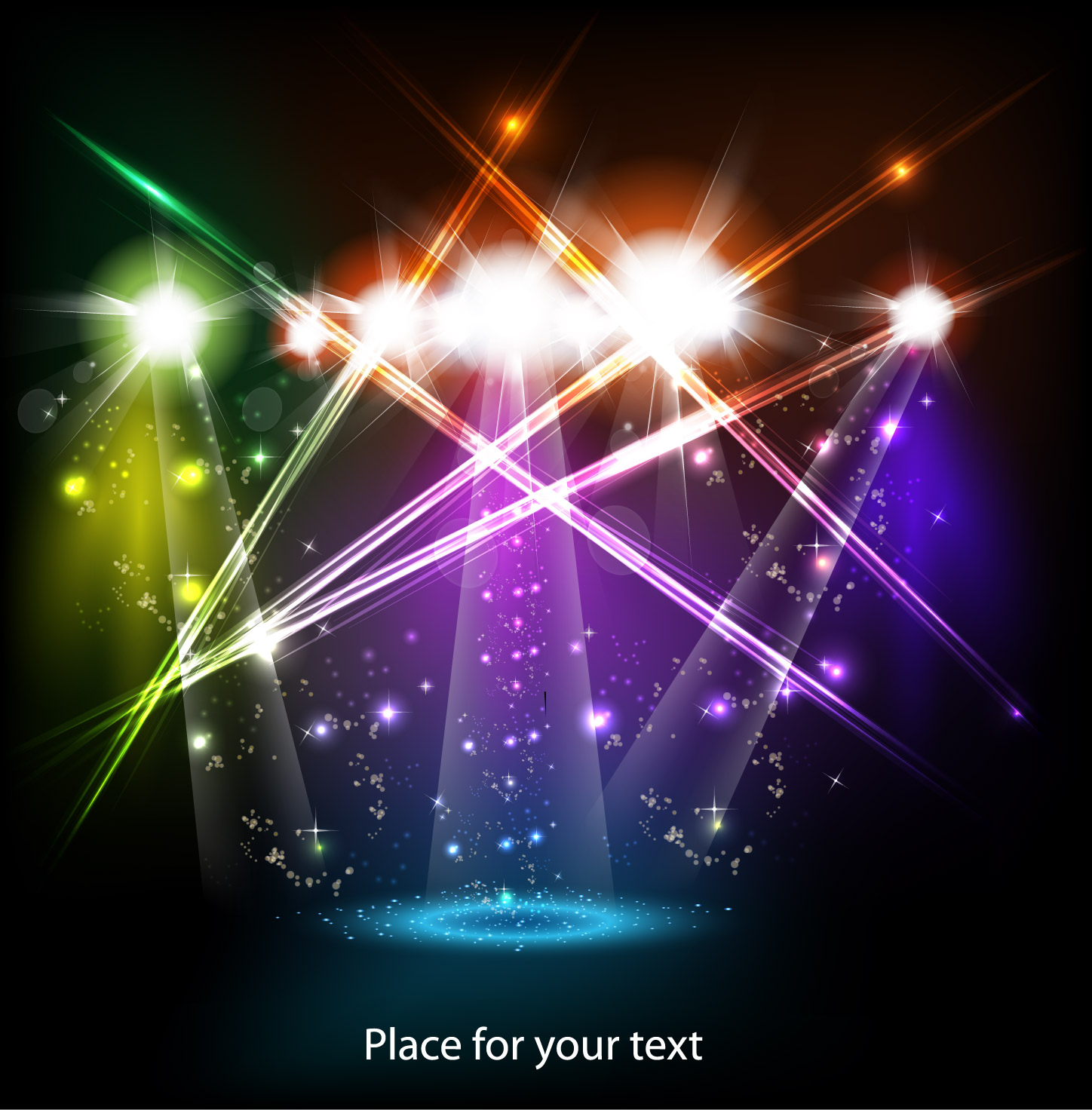 Bright stage lighting effects 01 vector Free Vector.