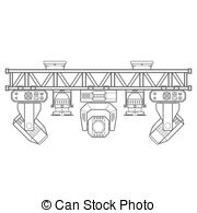 Stage truss Vector Clipart Royalty Free. 99 Stage truss clip.