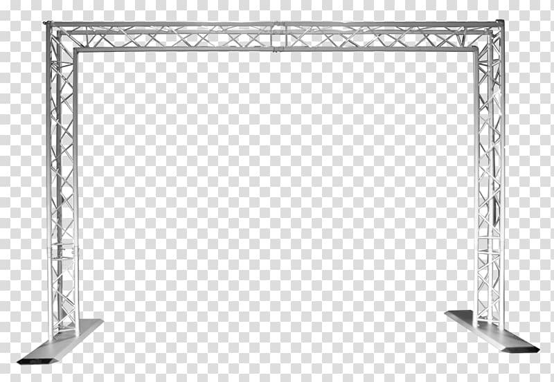 Gray stage truss bar, Truss King post Lighting Aluminium.
