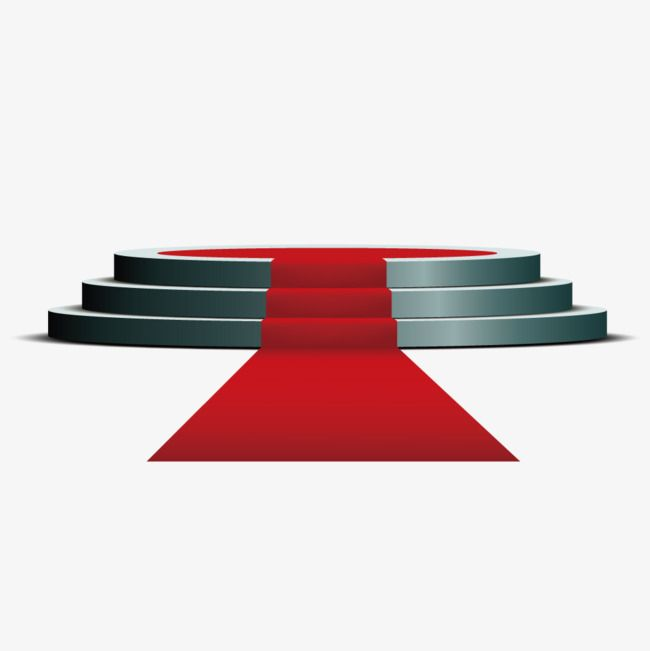 Circular Stage Red Carpet, Circular Stage, Red, Carpet PNG.