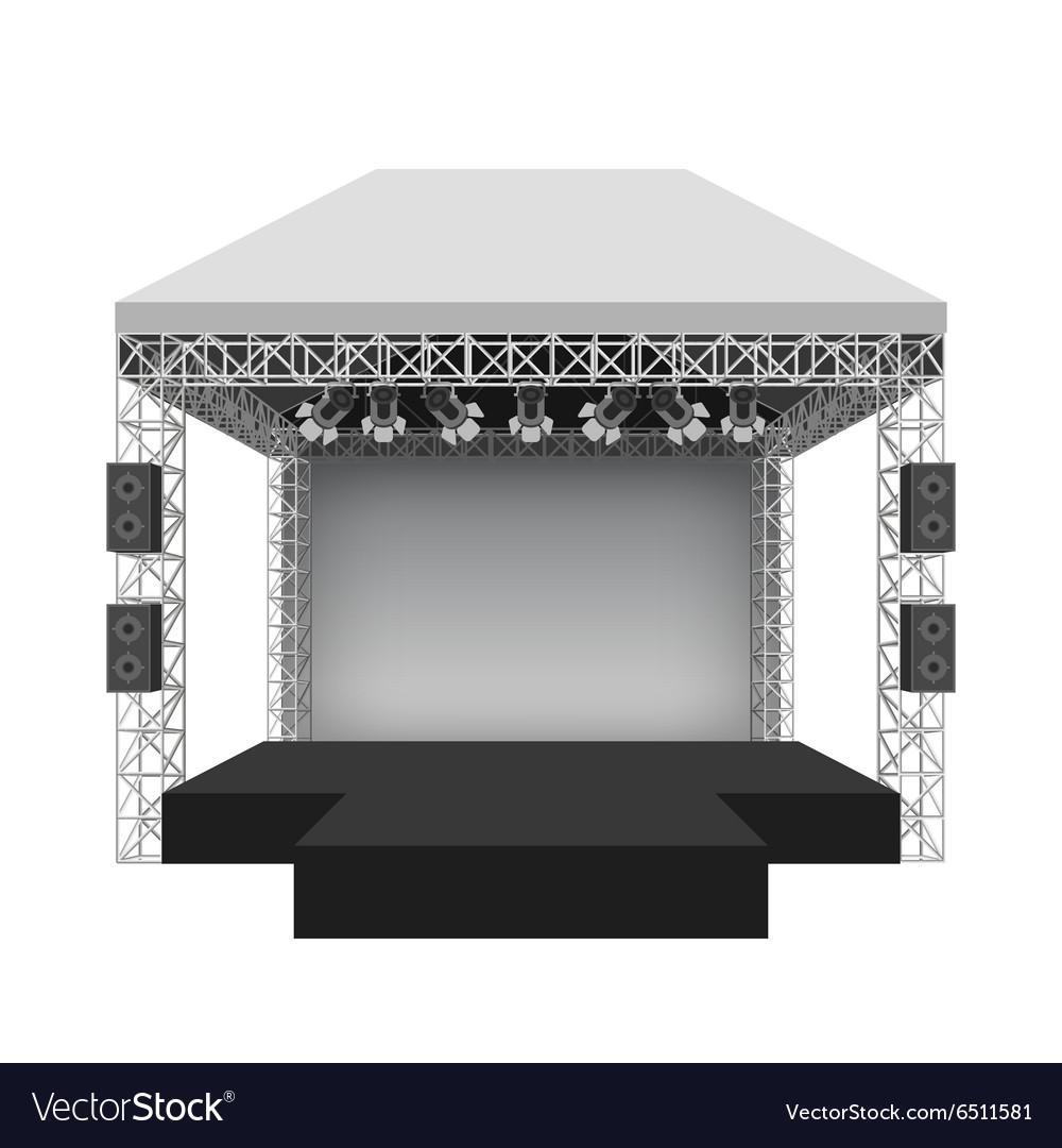 Podium concert stage.