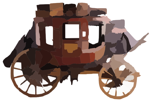 wild west stagecoach clipart American frontier Western.