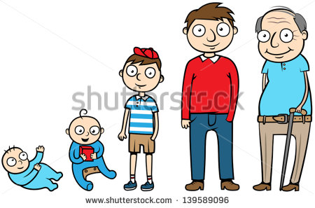 Stages Of Life Clipart.