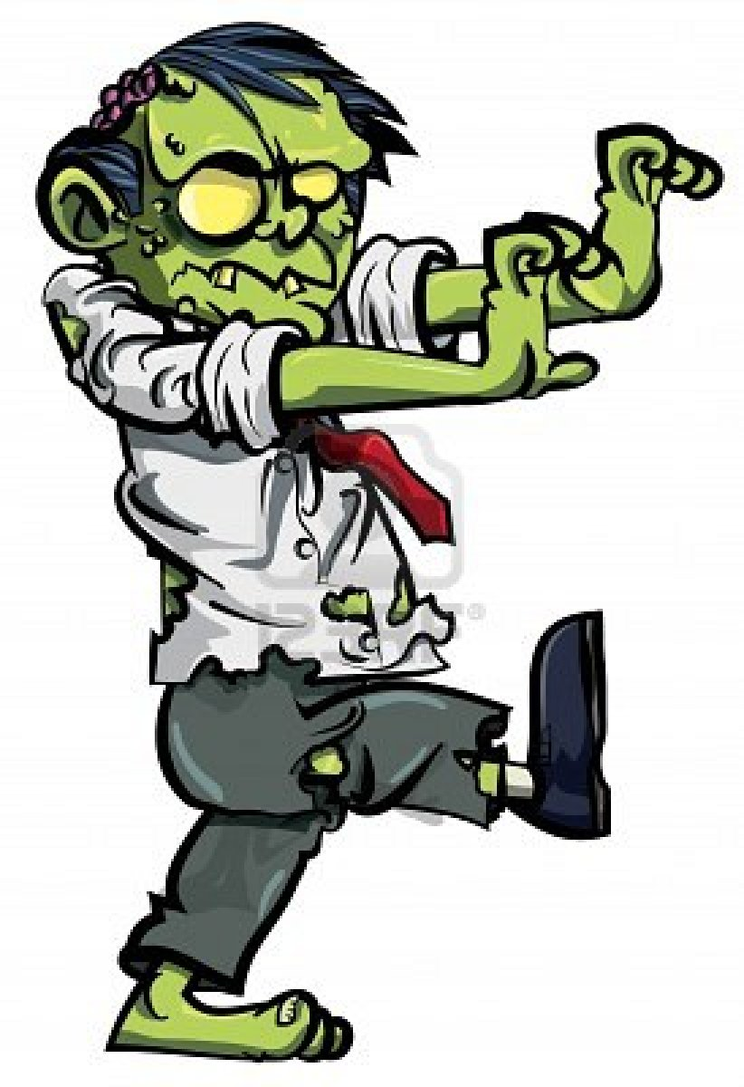 Halloween Zombie Group Clipart.