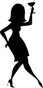 Party Girl Clipart Image.