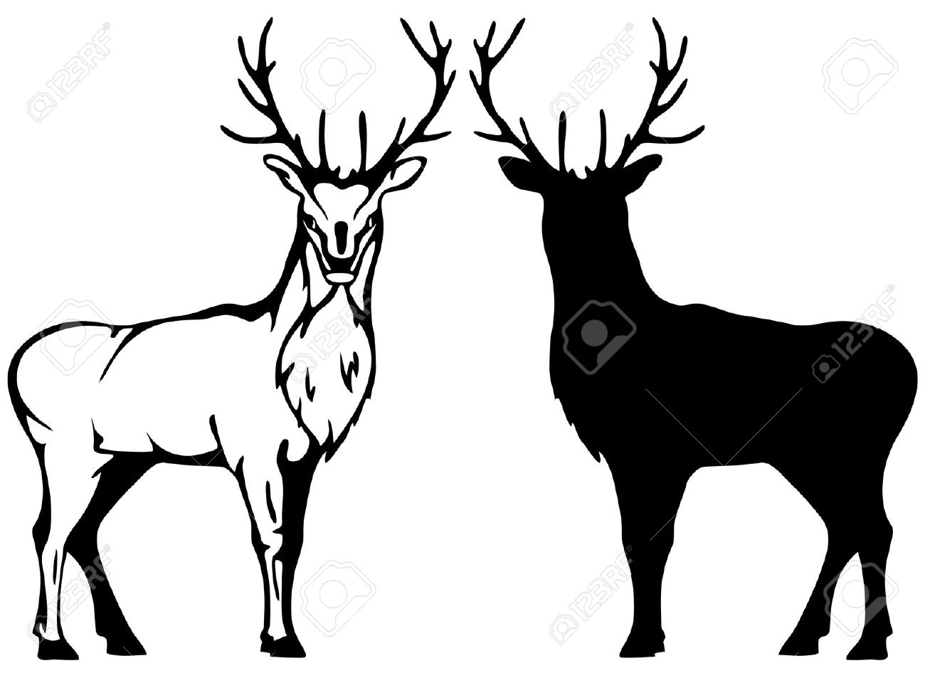 Buck Silhouette Clipart Clipground