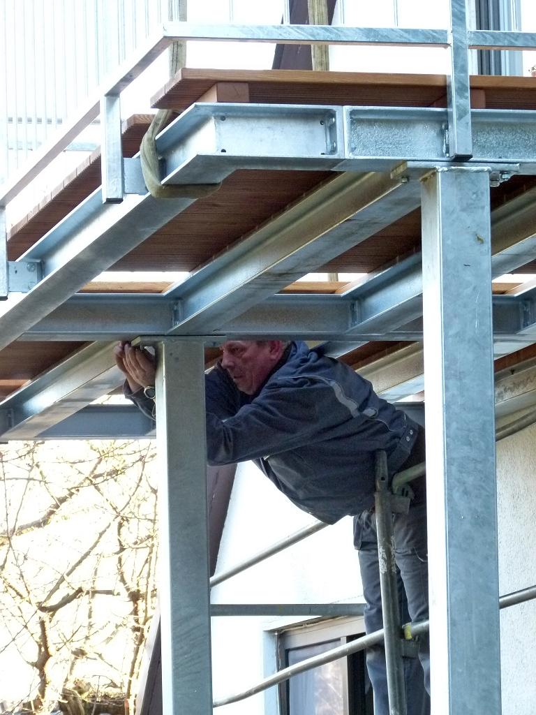 Metallbau Schmutzler Balkone und Terassen aus Stahl.