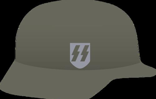 Nazi helmet vector image.