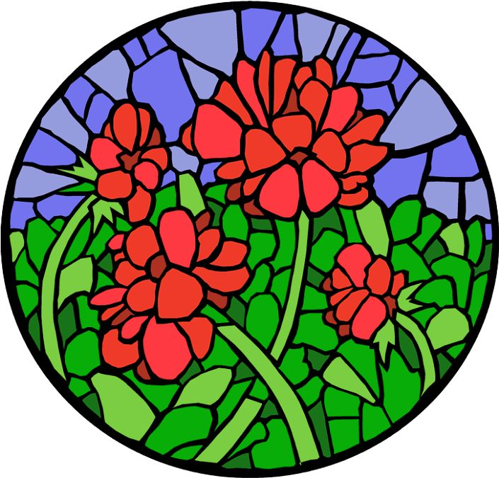Stain Glass Clipart.