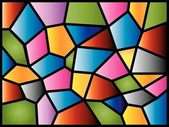 Stained glass clipart.