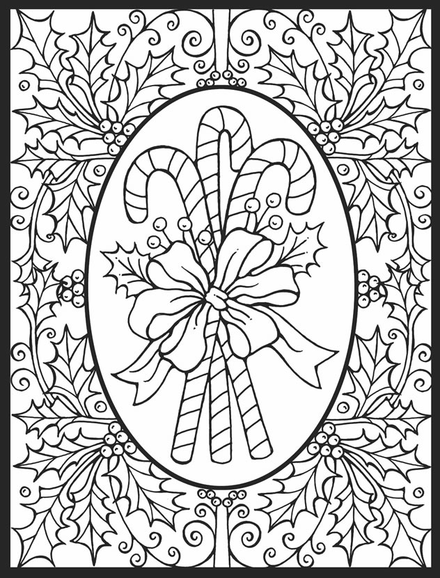 christmas detailed coloring pages | stained glass christmas to color black and white clipart ...