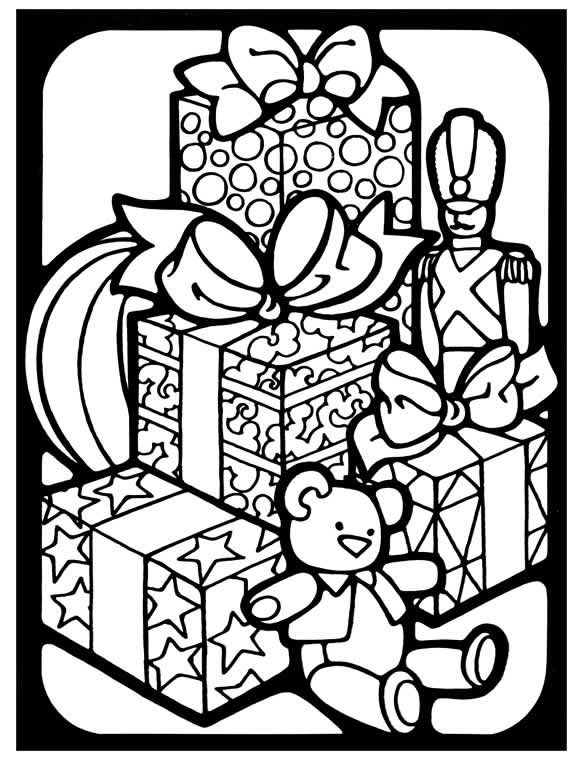 stained glass christmas to color black and white clipart ...
