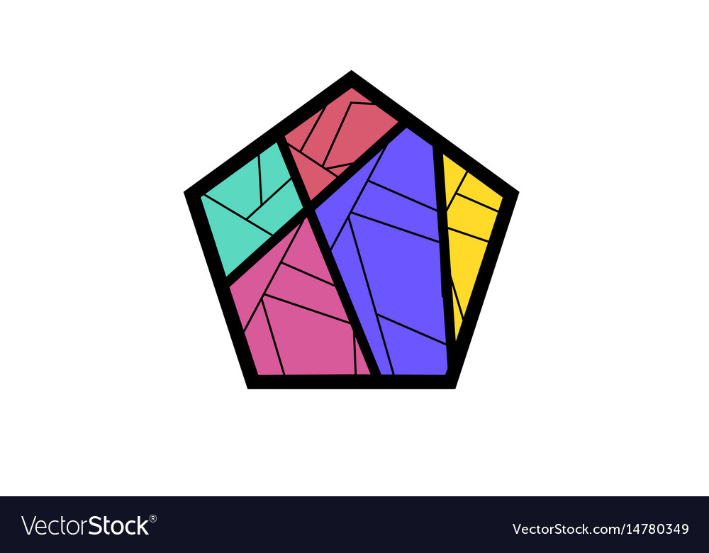 Stained glass logo.