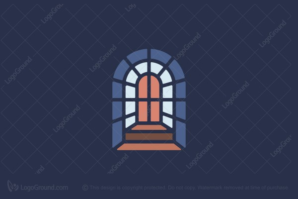Exclusive Logo 172267, Church Window Stained Glass Logo.