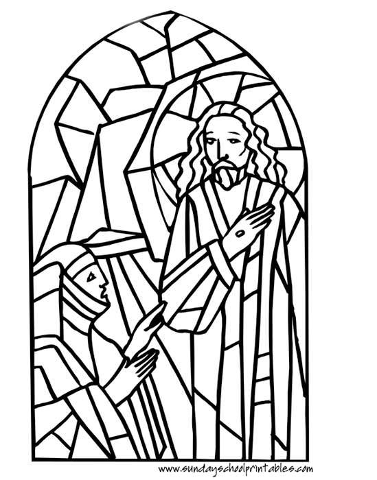 Cross In Church Window Clipart.