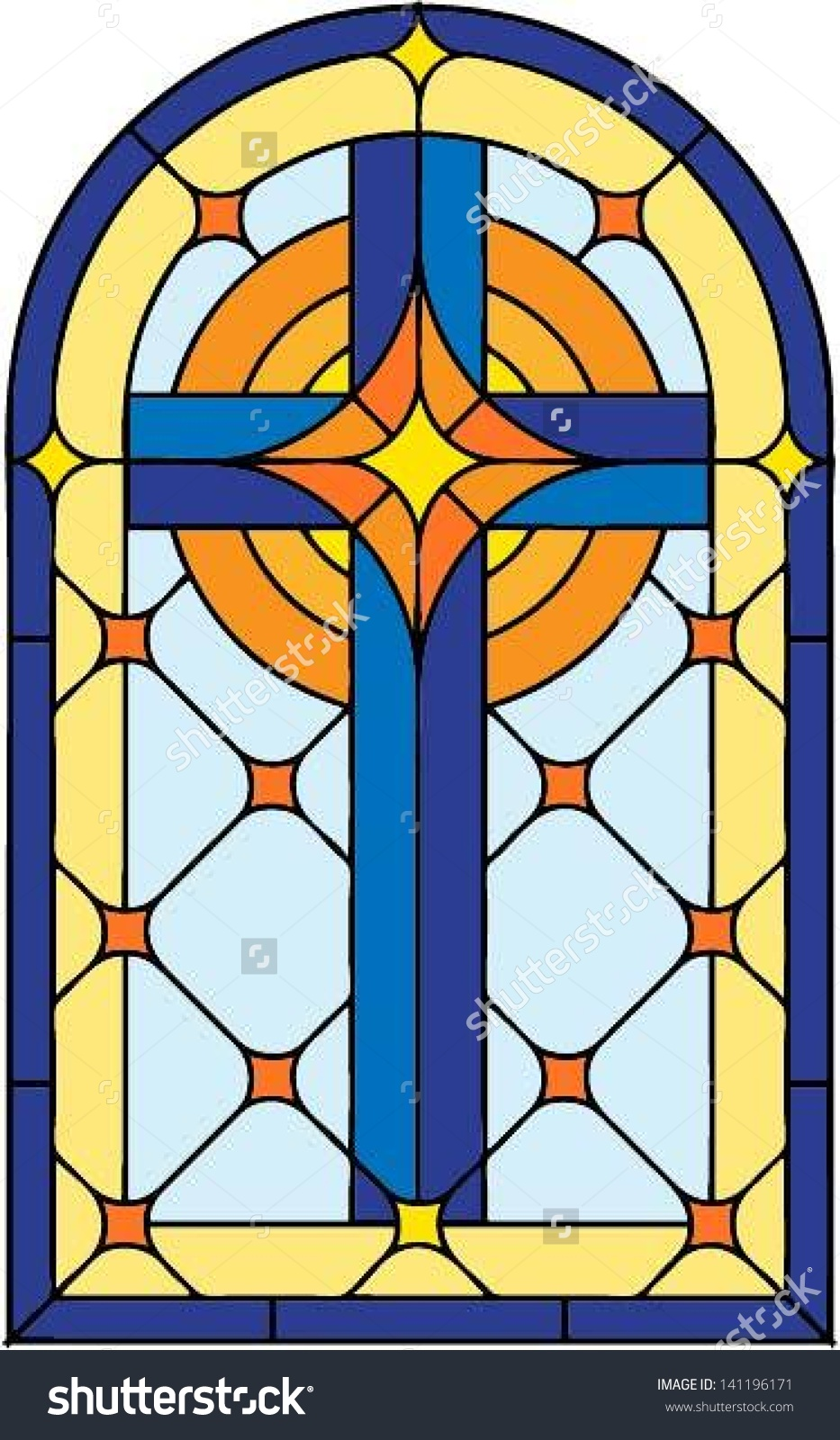 Glass Window Clip Art : Stained glass window clipart clipground