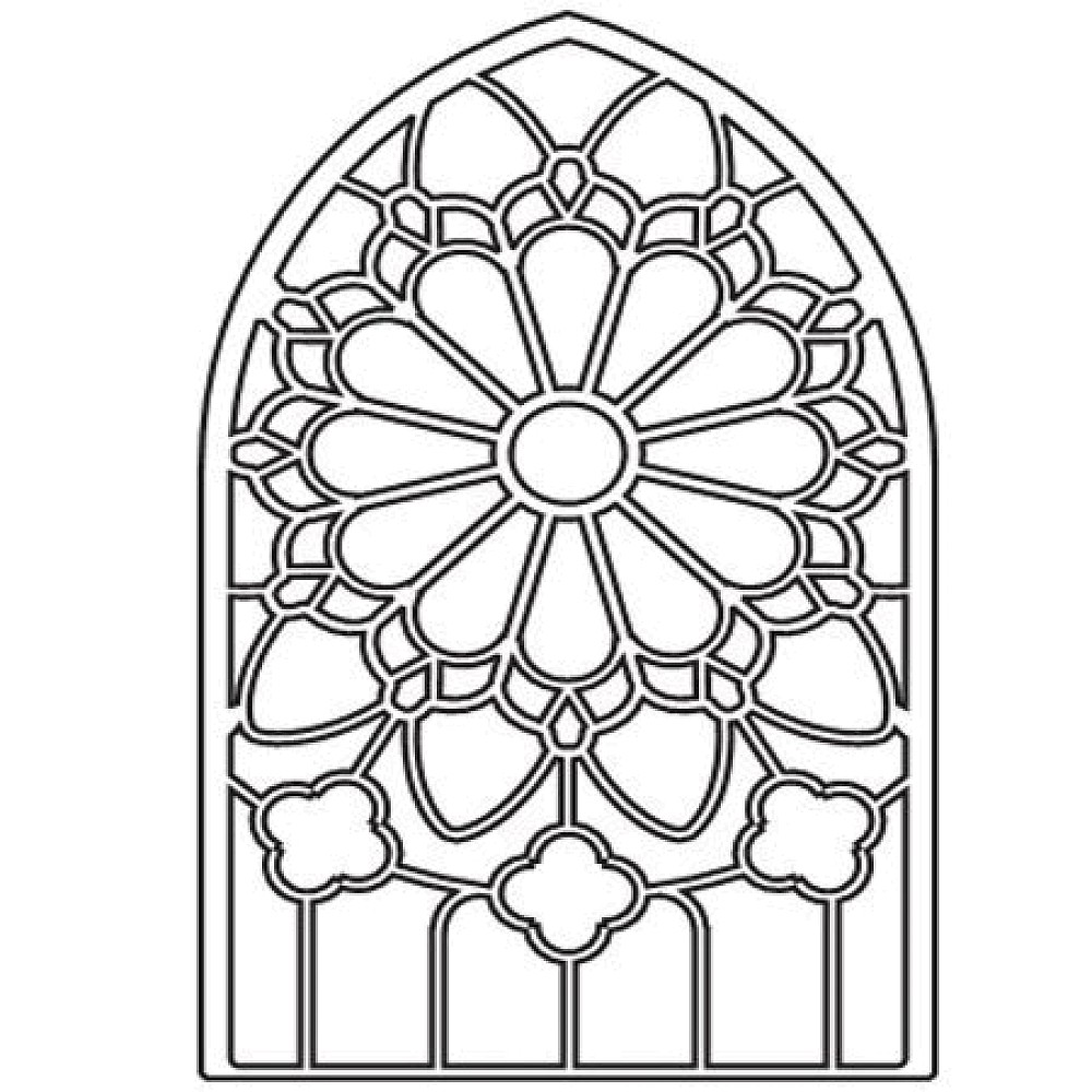 Stained glass window clipart Clipground