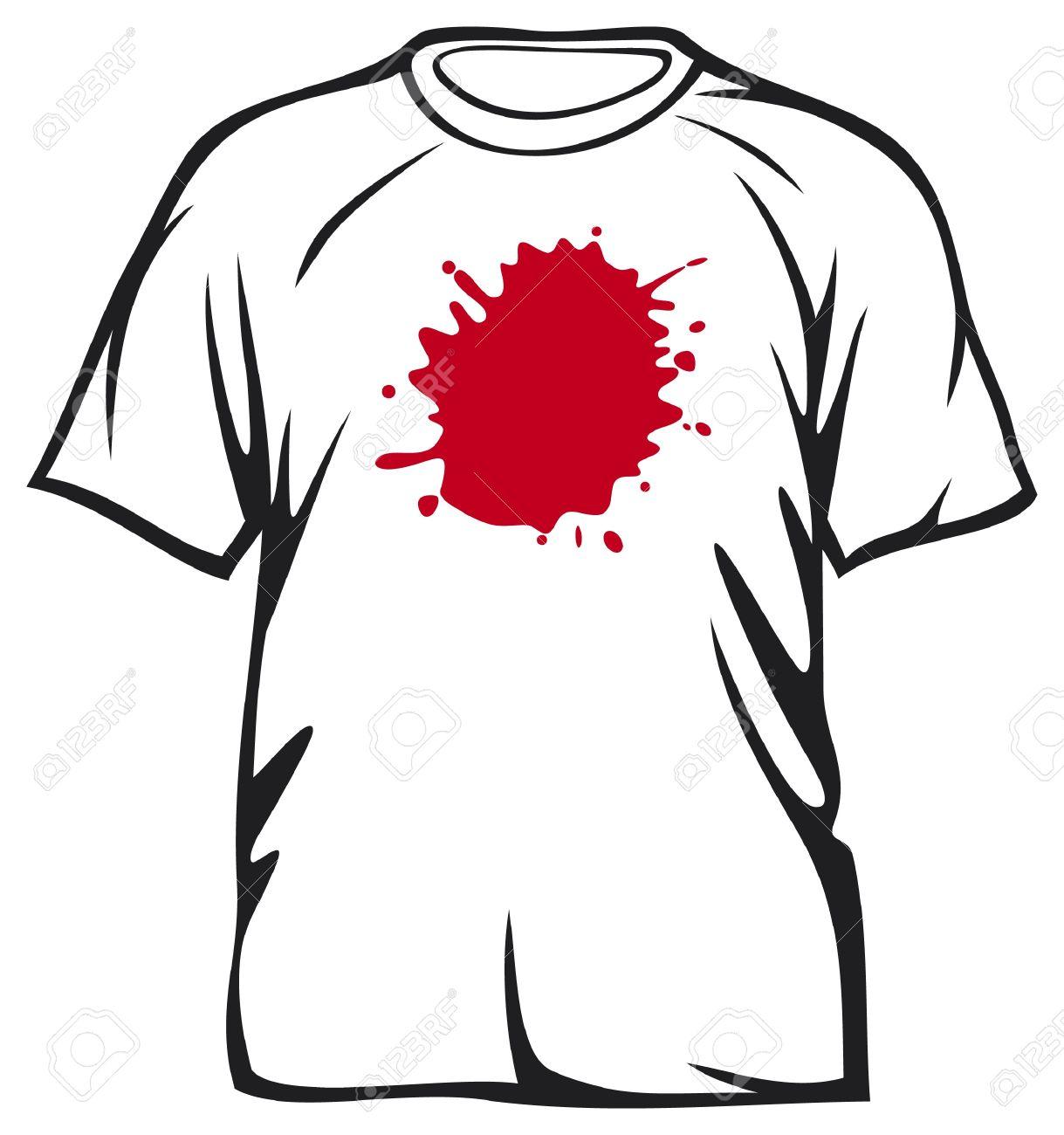 Dirty Shirt Clipart.