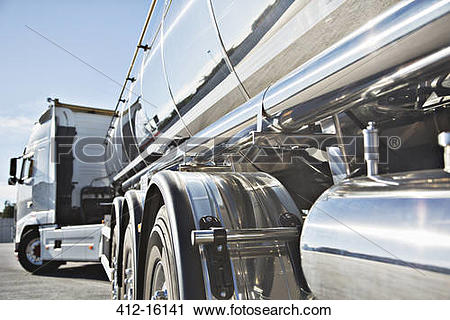 Stock Photography of Stainless steel milk tanker 412.