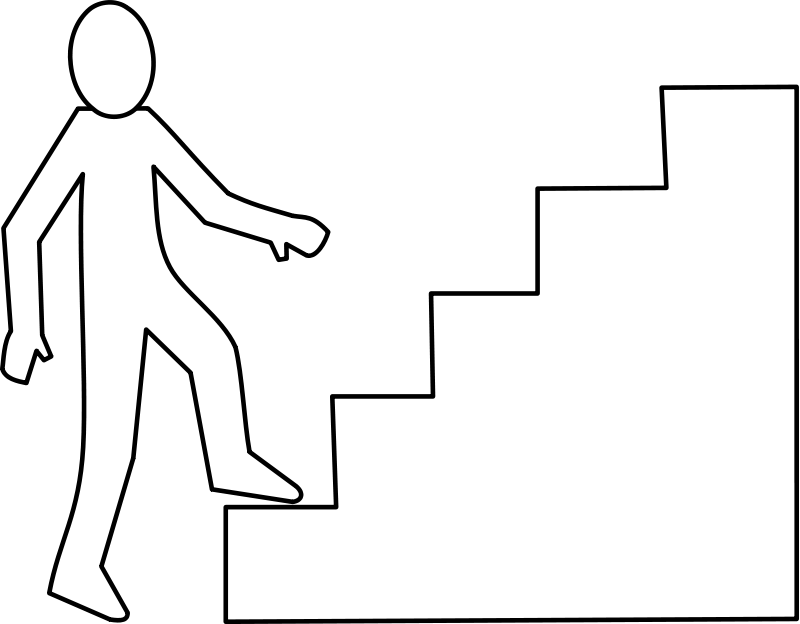 Stair steps clipart.