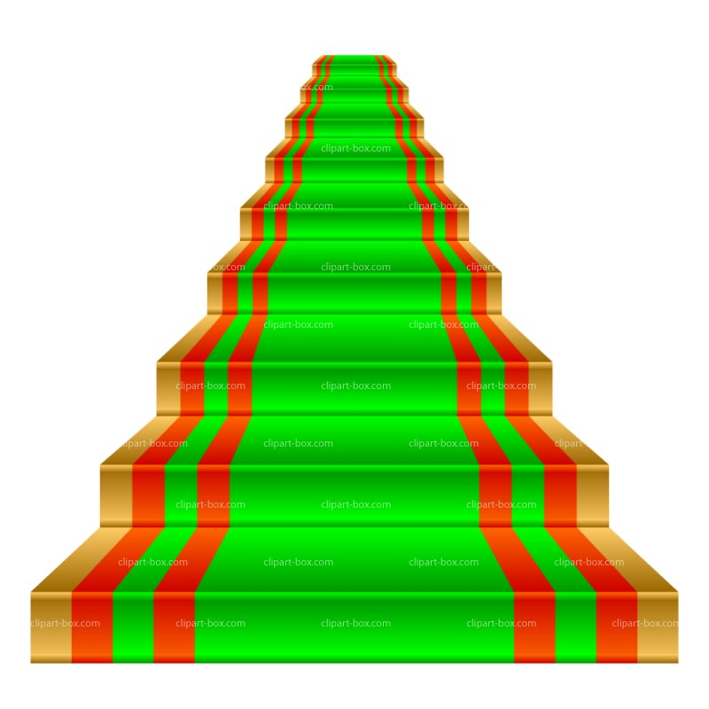 Colorful staircase clipart.