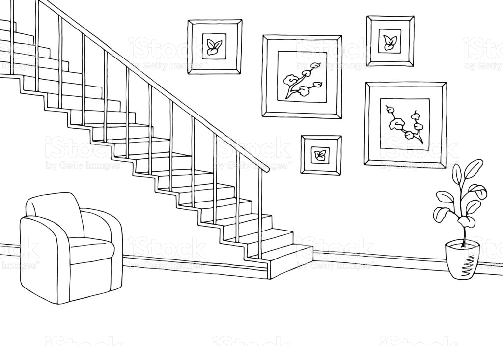 Stairs clipart black and white 8 » Clipart Station.