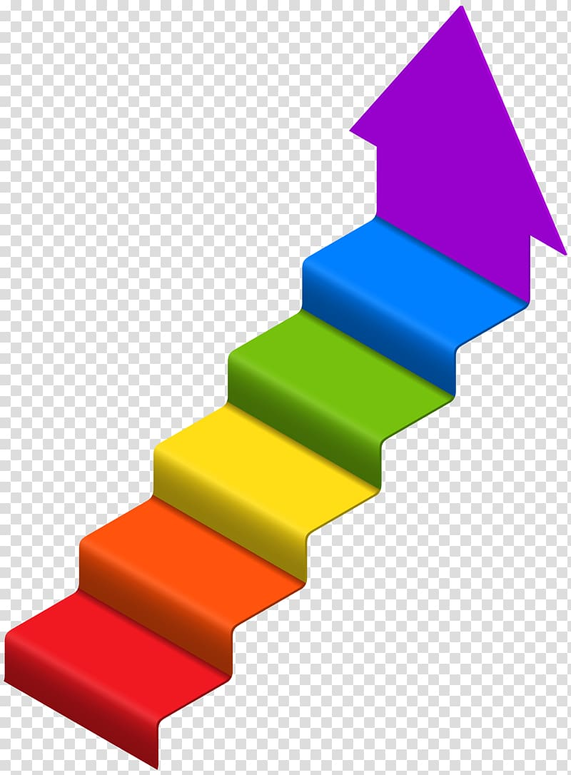 Multicolored stair.