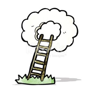 Stairway TO Heaven Cartoon premium clipart.