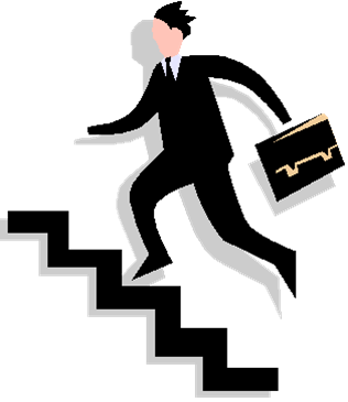 No walking on stairs clipart.